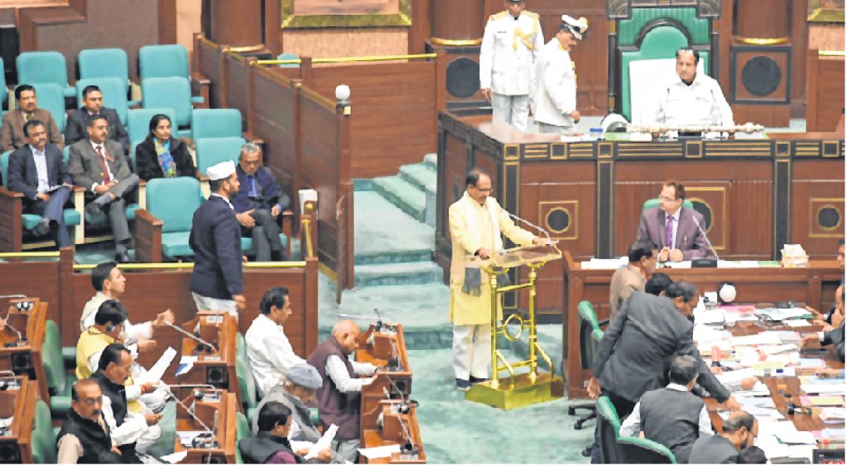 Bhopal: 228 MLAs barring two take oath