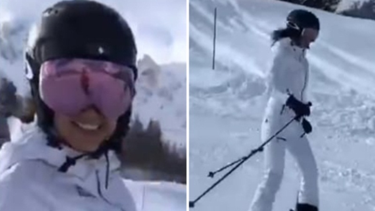 Watch: Kangana Ranaut skiing away to glory in the Swiss Alps