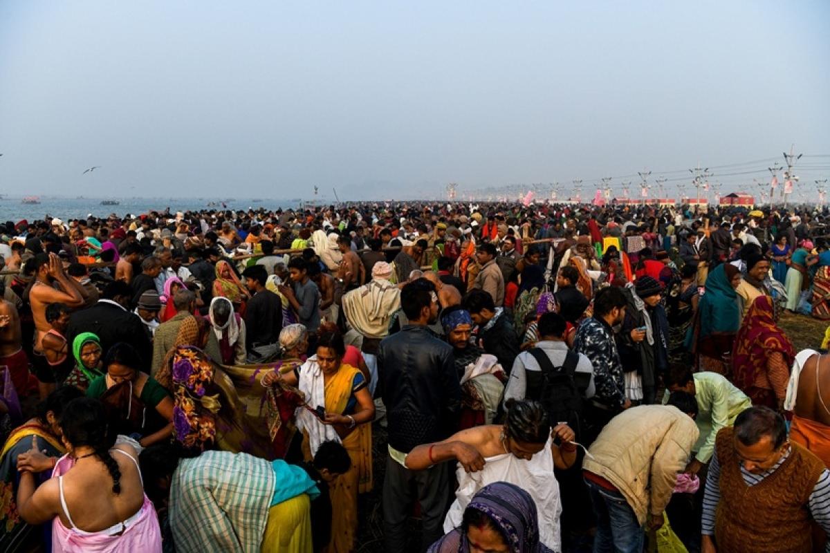 Shivratri: More than 1 crore take holy dip in Sangam