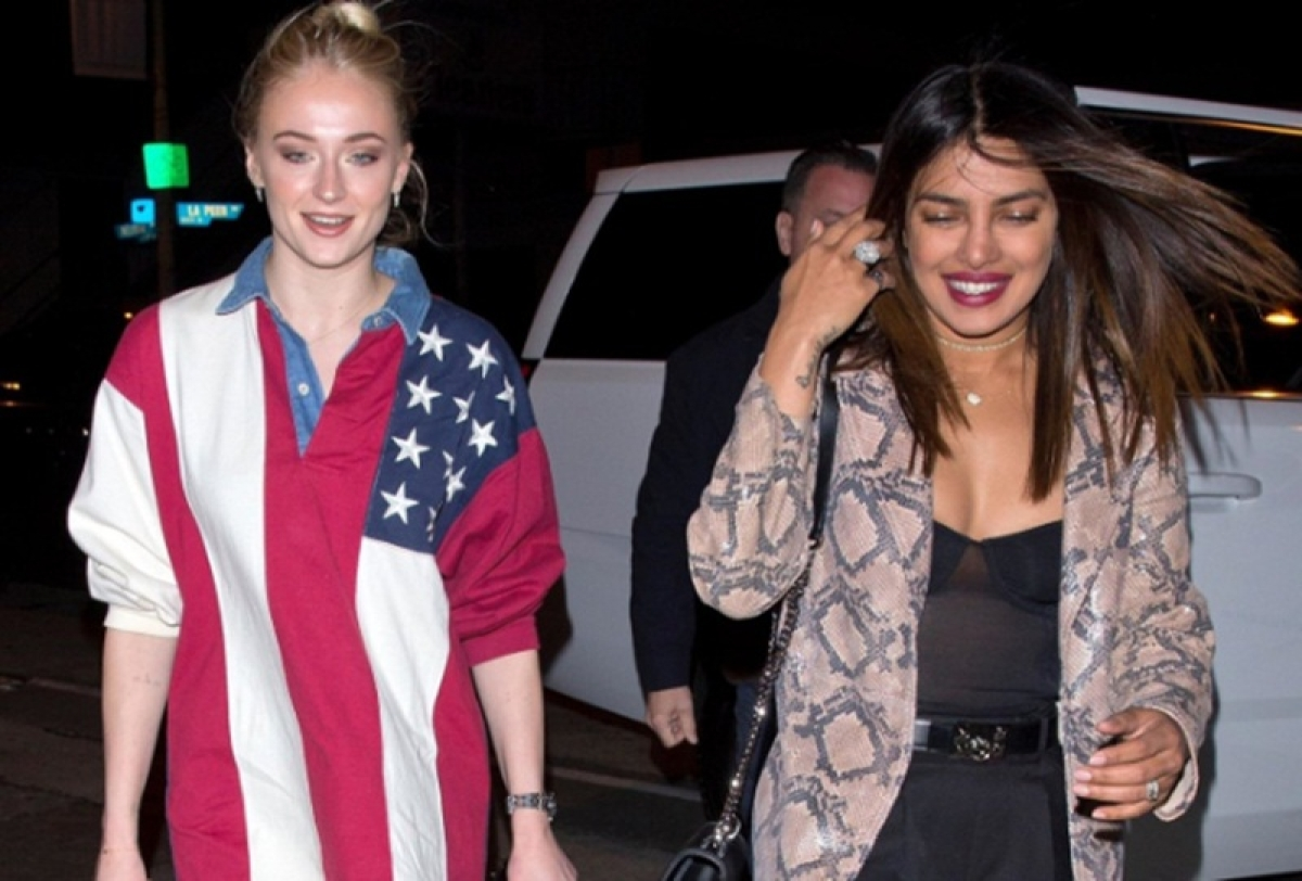 Priyanka Chopra and Sophie Turner make it a girls night in Los Angeles
