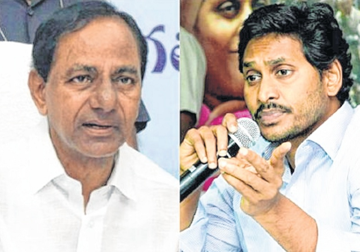 TRS leaders K.T. Rama Rao meet Y.S. Jaganmohan Reddy to discuss Federal Front