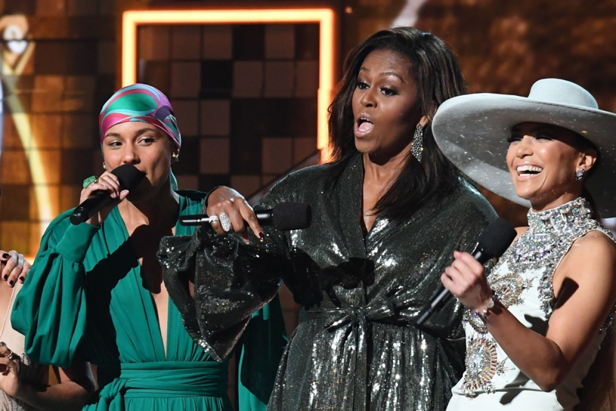 Grammy 2019: Former US First Lady Michelle Obama hits the stage