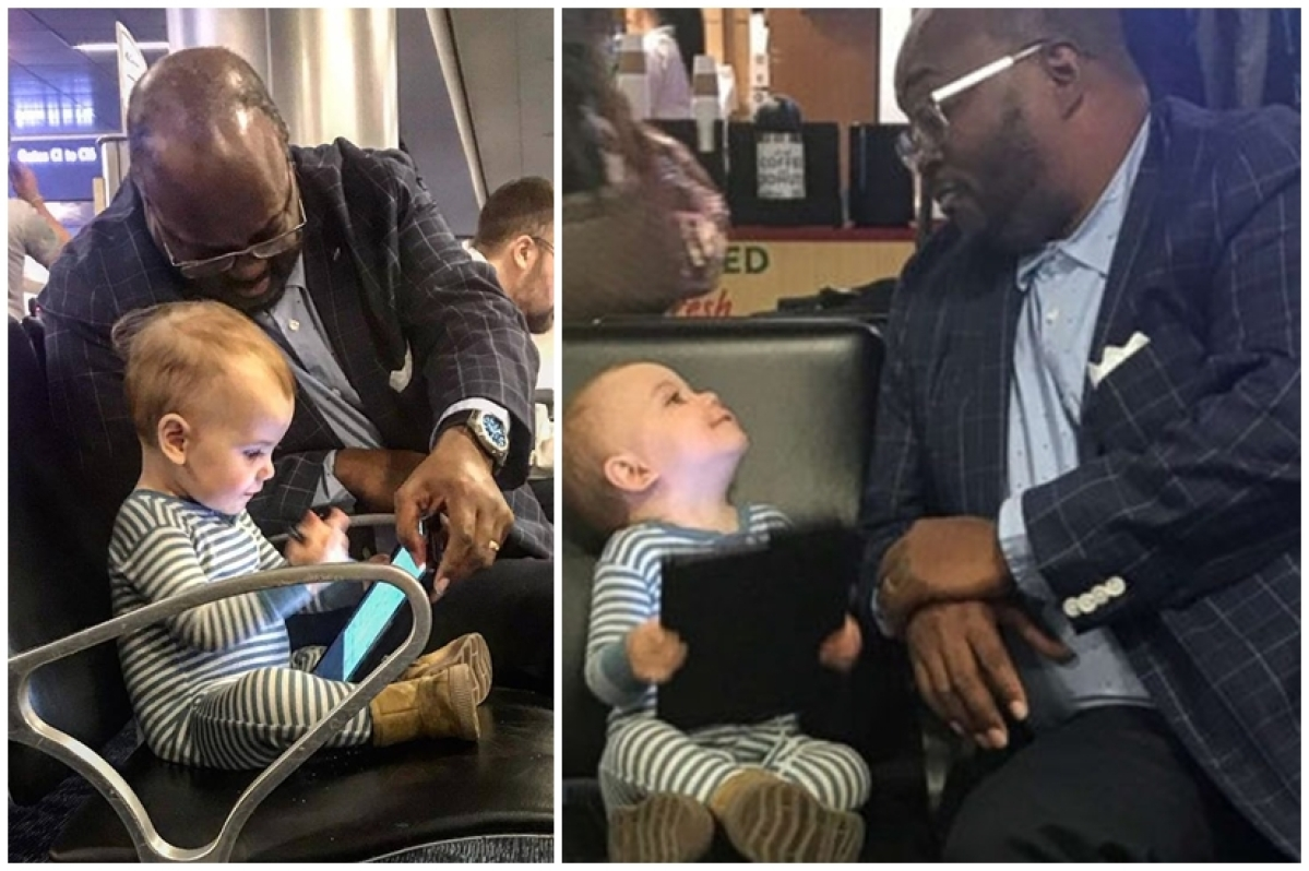 This is the world I want for her: Father thanks stranger for heart-warming encounter with toddler at airport
