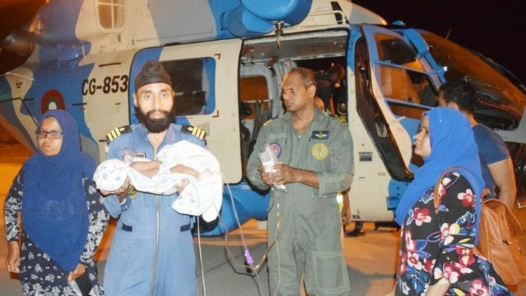 Maldives: Indian Coast Guard evacuates ill infant
