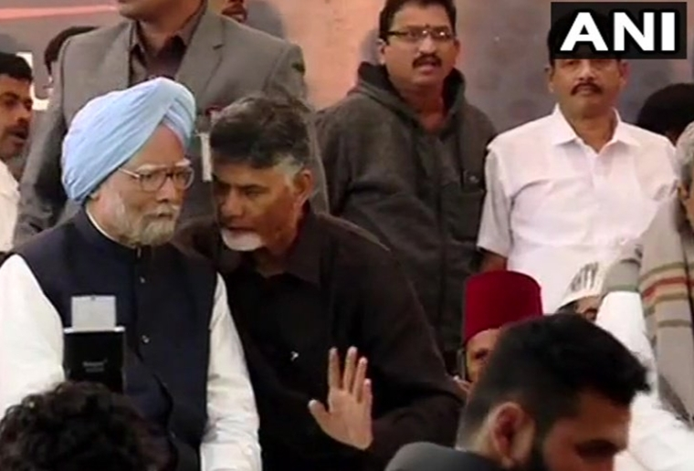 Chandrababu Naidu fasts: Centre should give special status to Andhra without any delay, says former PM Manmohan Singh