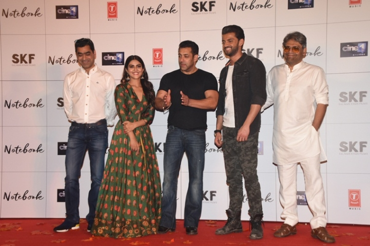 Watch: Salman Khan launches the trailer of Notebook with lead actors and two hundred fans!