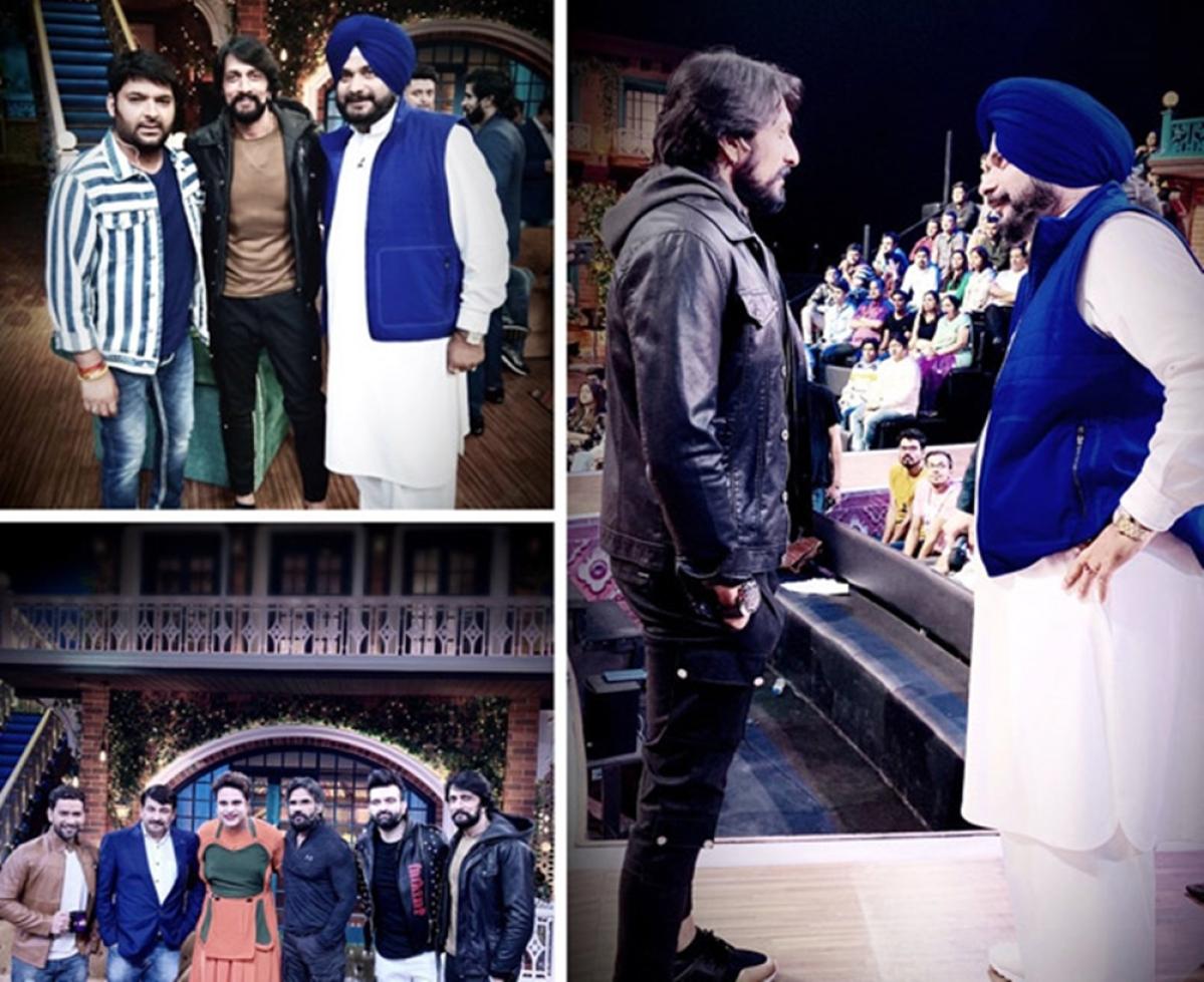 Kichcha Sudeep visits 'The Kapil Sharma Show' and the boys definitely had a blast; see pics
