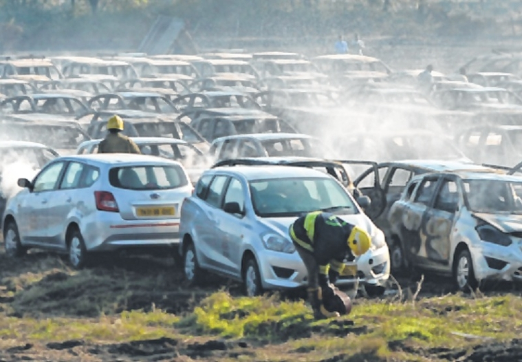 170 cars gutted in Chennai, too