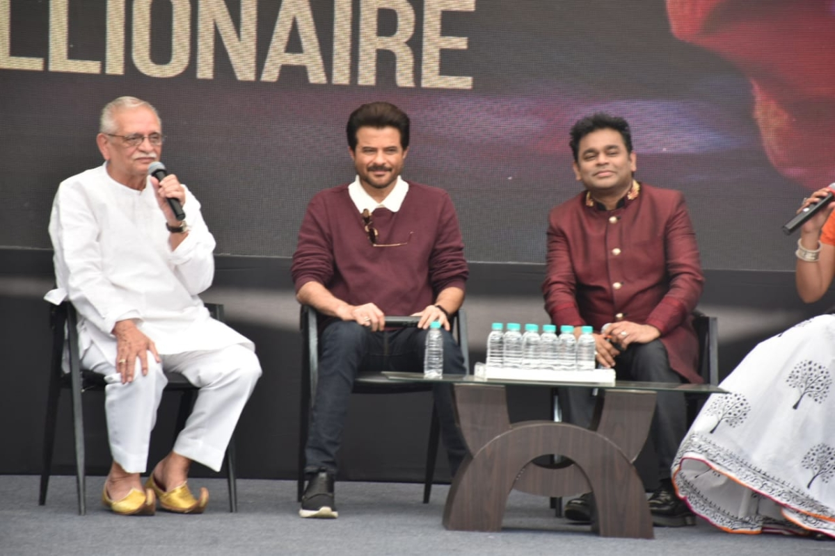From L-R: Gulzar, Anil Kapoor and A. R. Rahman (Pic courtesy: Viral Bhayani)