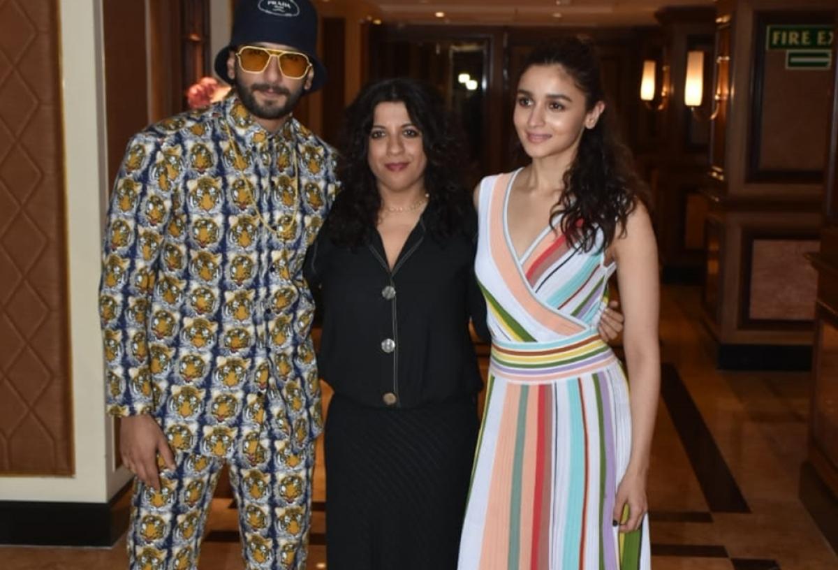 Ranveer Singh, Alia Bhatt spotted at 'Gully Boy' special screening