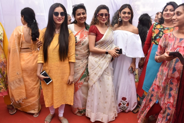 From L-R: Pooja Banerjee, Jaya Bhattacharya, Tina Dutta and Sreejita De, Pic courtesy: Viral Bhayani