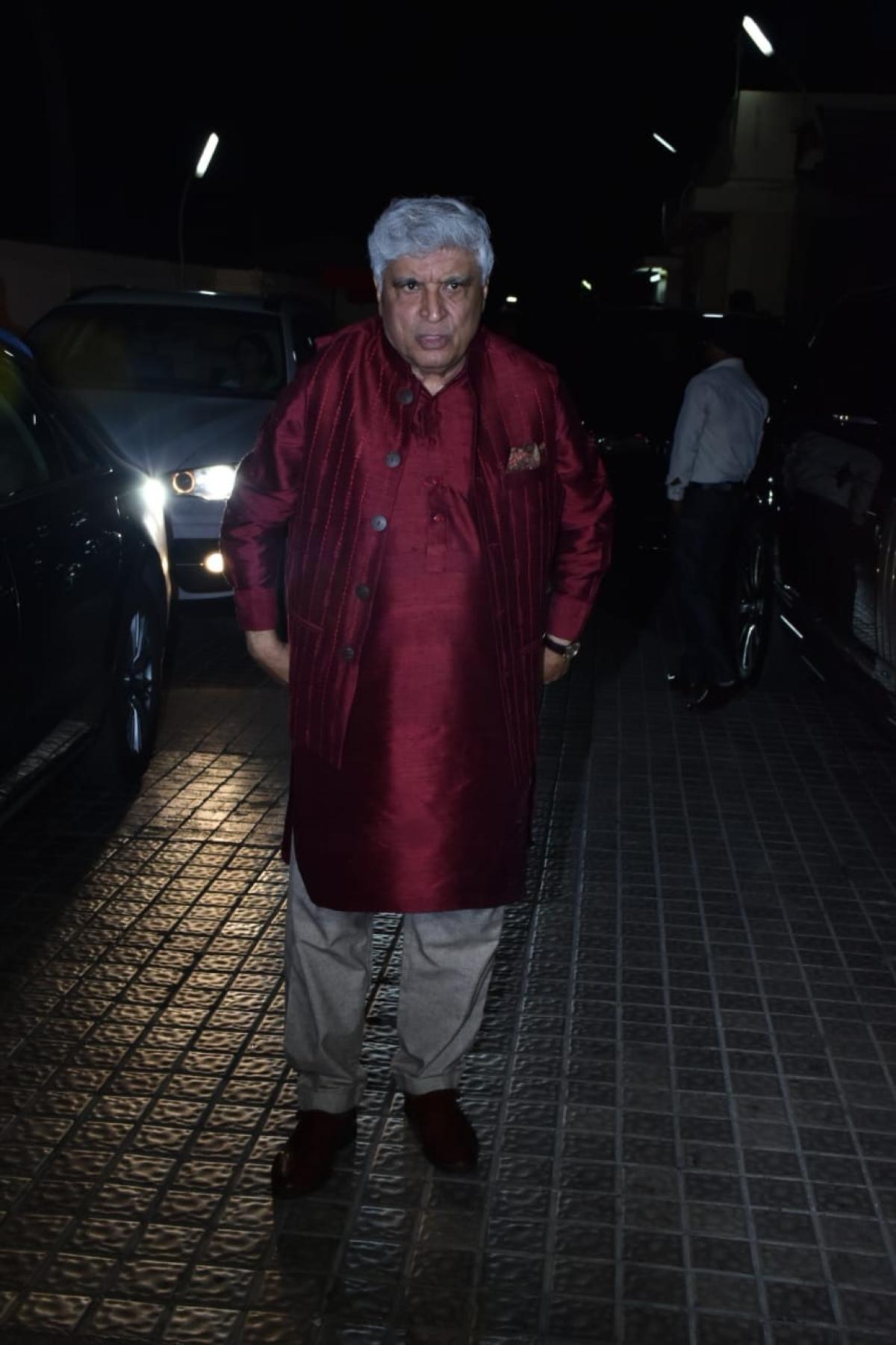 Javed Akhtar, Pic courtesy: Viral Bhayani
