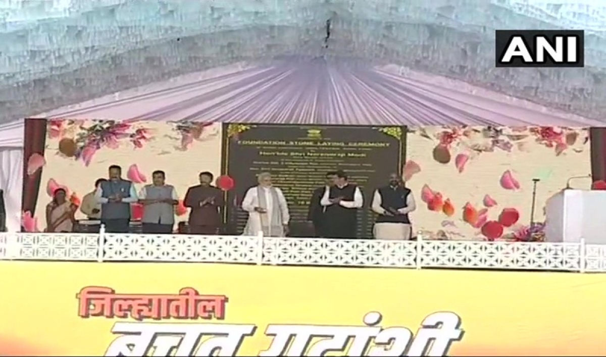 Maharashtra: 2-minute silence observed during PM Modi's event to pay homage to martyred CRPF soldiers of Pulwama attack