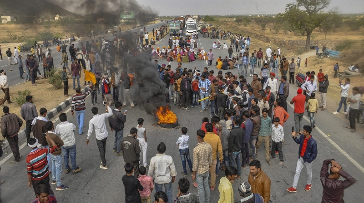 Gujjar quota agitation in Rajasthan enters 4th day; protestors block highways, railway tracks