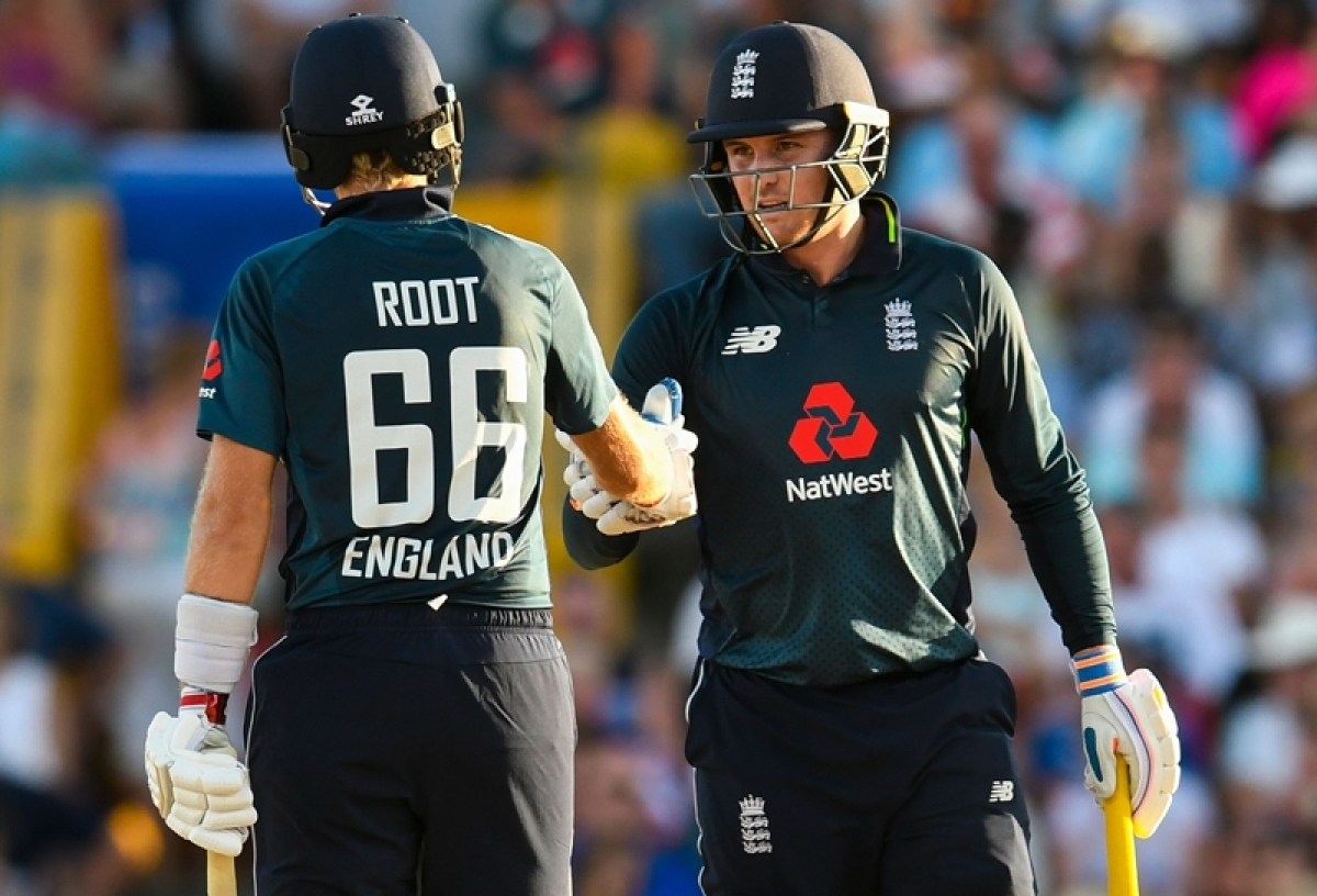 Jason Roy, Joe Root hit centuries as England chase record total to beat West Indies in 1st ODI