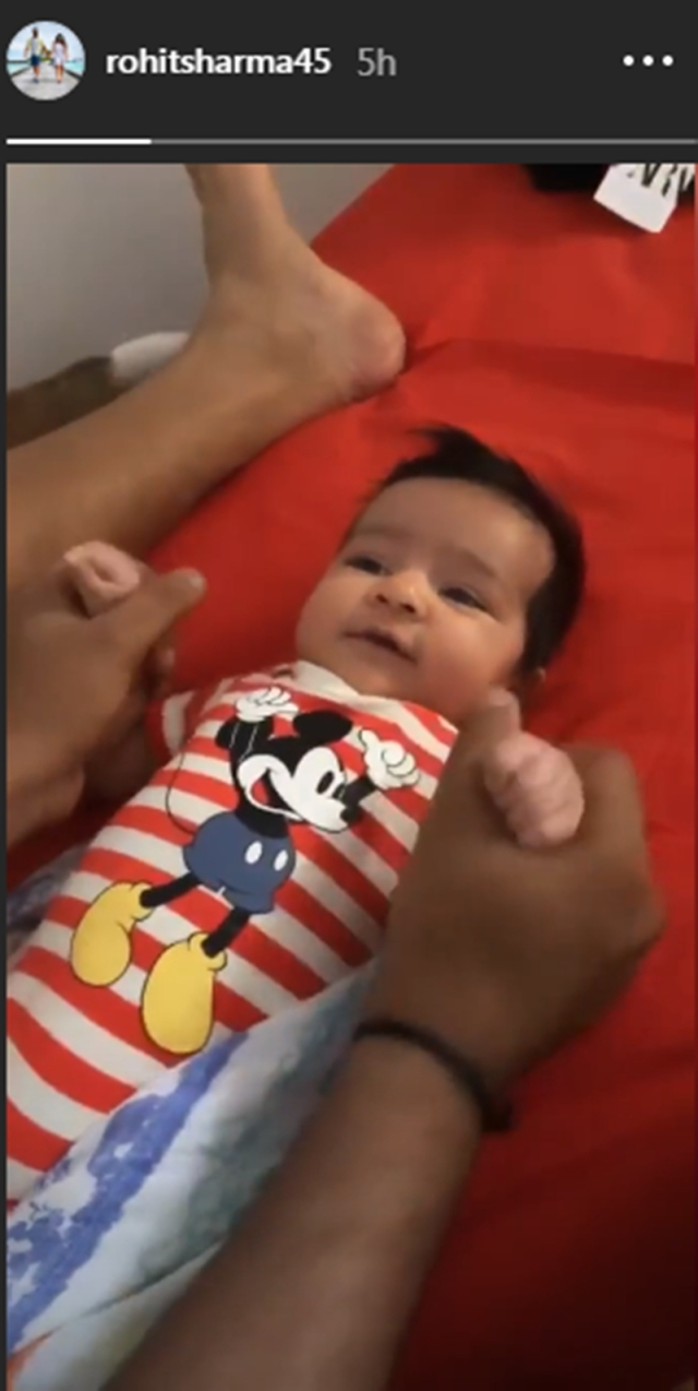 Daddy on duty! Rohit Sharma captures daughter Samaira's smile in this adorable video; watch