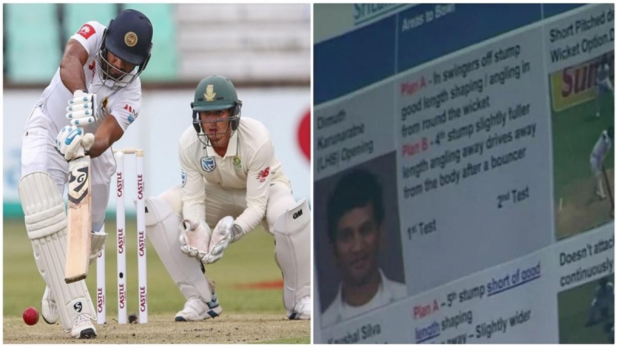 See pics! South African TV cameras reveal team's secret plans against Sri Lankan batsmen