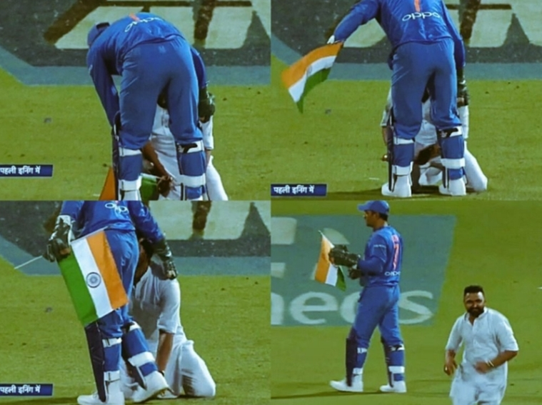 Watch video: Social media in awe as MS Dhoni prevents Indian flag from touching the ground during 3rd T20I