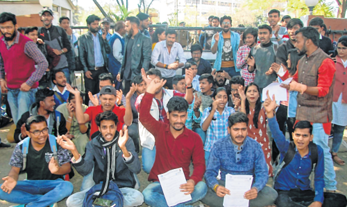 Bhopal: MCU students allege foul play in results, stage protest