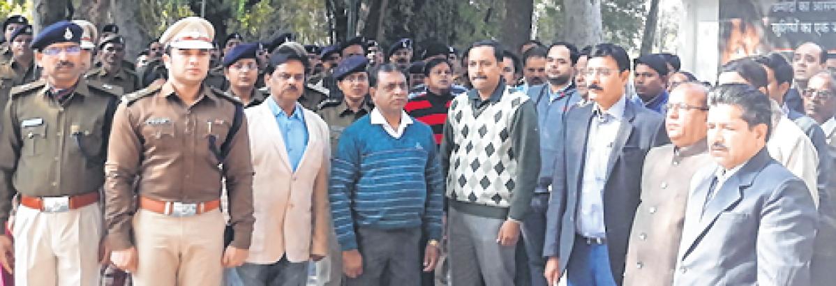 Ujjain: Mass recitation of National Anthem, song held