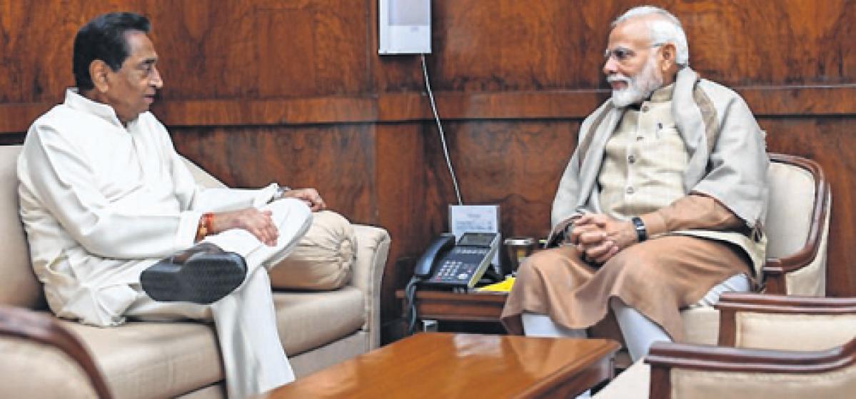 Bhopal: Kamal Nath meets PM, seeks release of pending fund