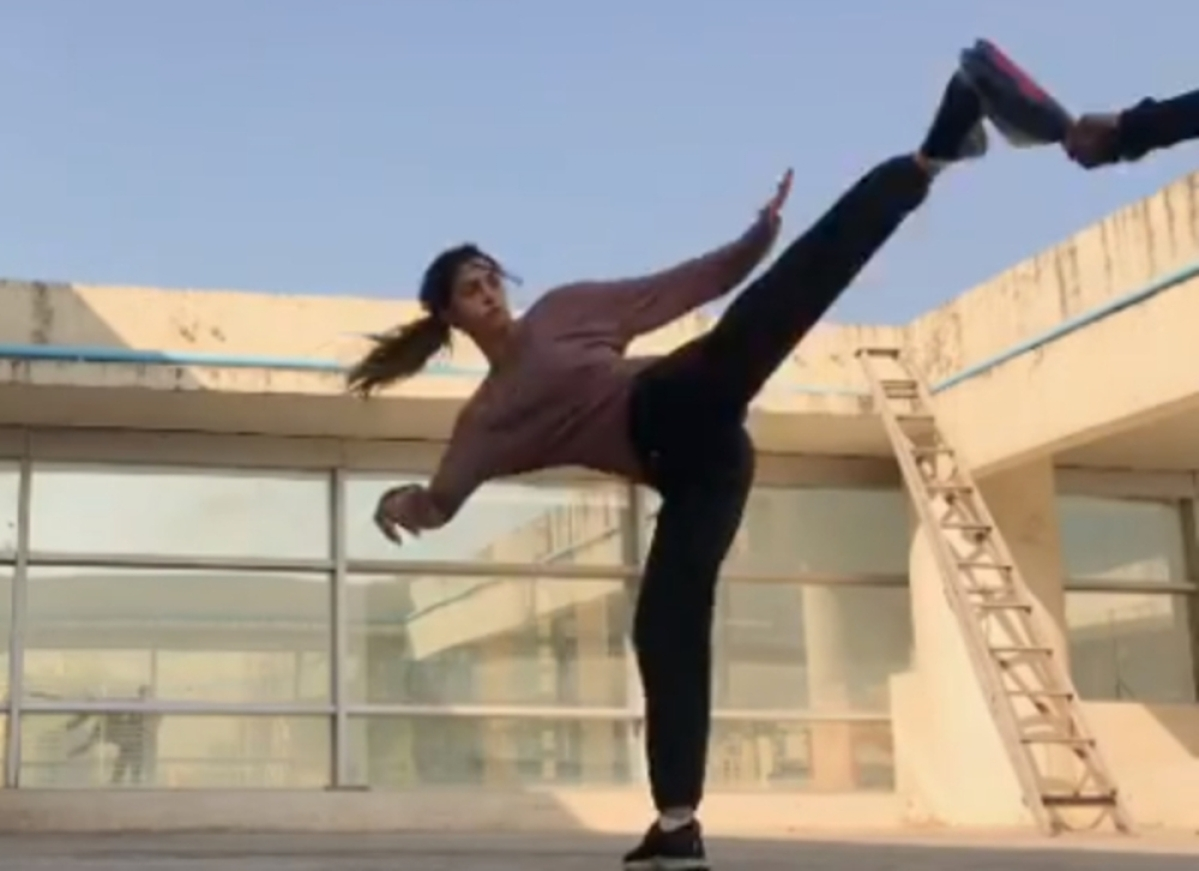 Watch! Disha Patani learns 'slap spin tornado', gives her fans a glimpse of her intense workout
