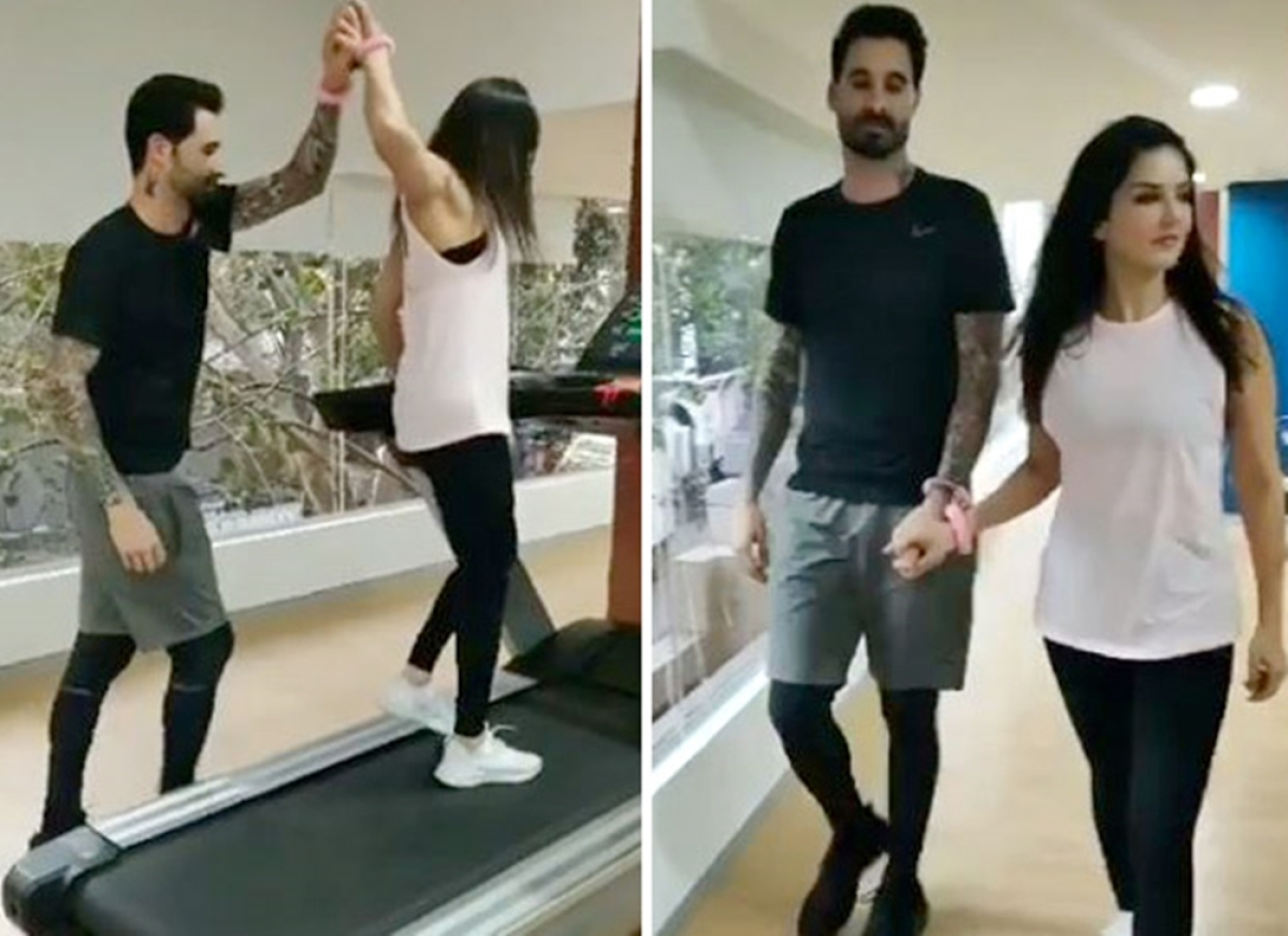 Watch: Sunny Leone handcuffs husband Daniel Weber, but it's not what you think