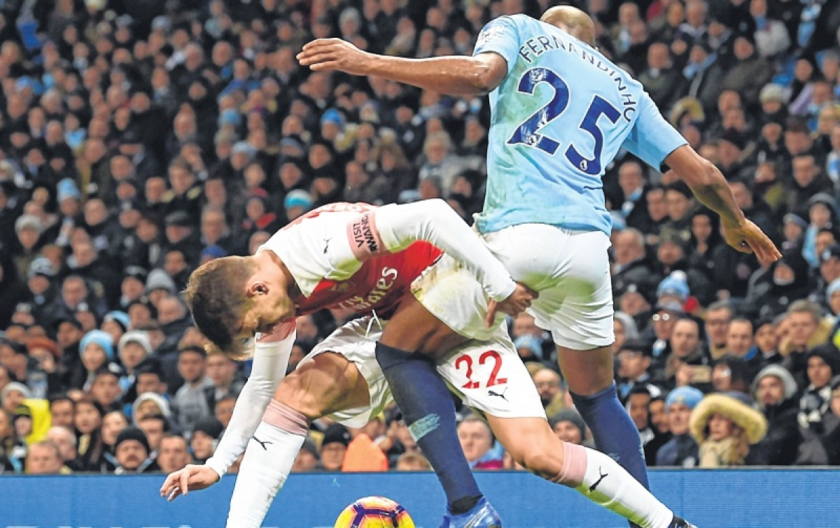 Sergio Aguero hat-trick sinks Arsenal