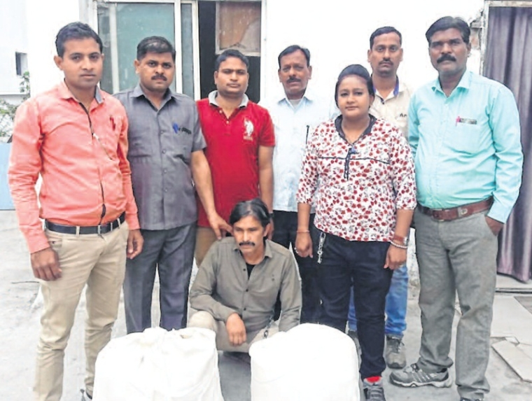 Indore: Man held with 21-kg cannabis worth RS 1.47 Lakh