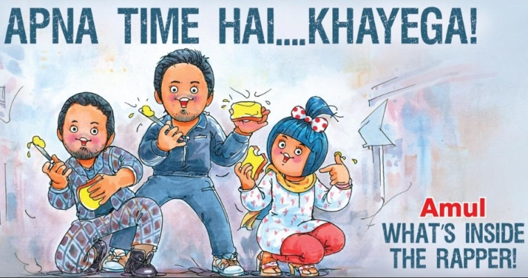 Utterly Delicious! Amul reveals 'Gully Boy' doodle featuring Ranveer, Alia, and Siddhant