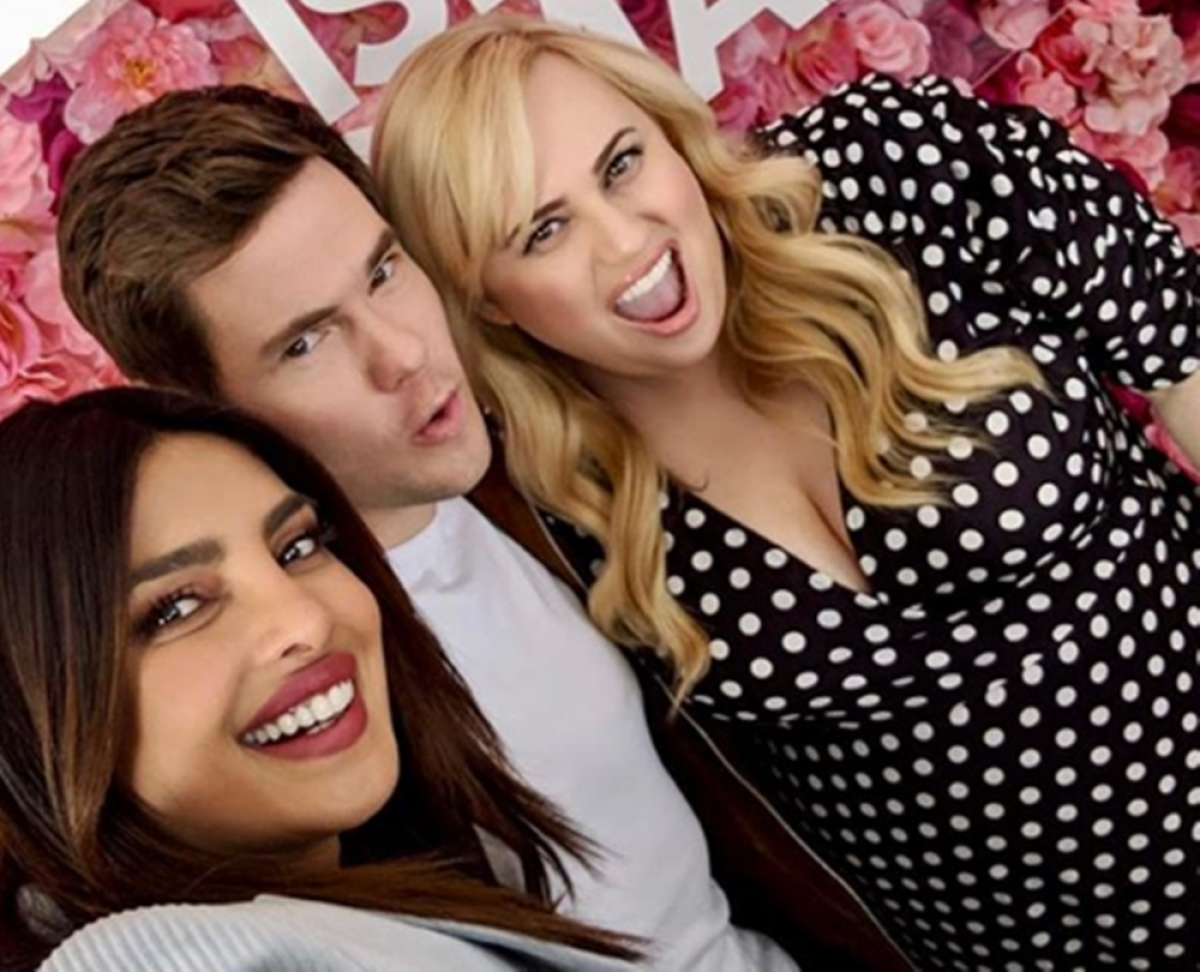In Pics: Priyanka Chopra has a blast with Rebel Wilson, Adam Devine while promoting 'Isn't It Romantic'