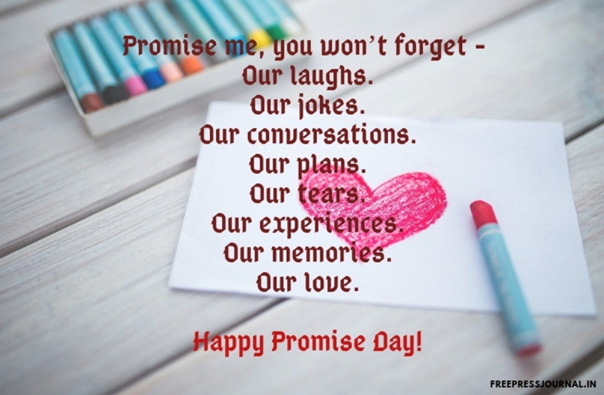 Promise Day 2019: Wishes, greetings, images to share on SMS, WhatsApp, Facebook