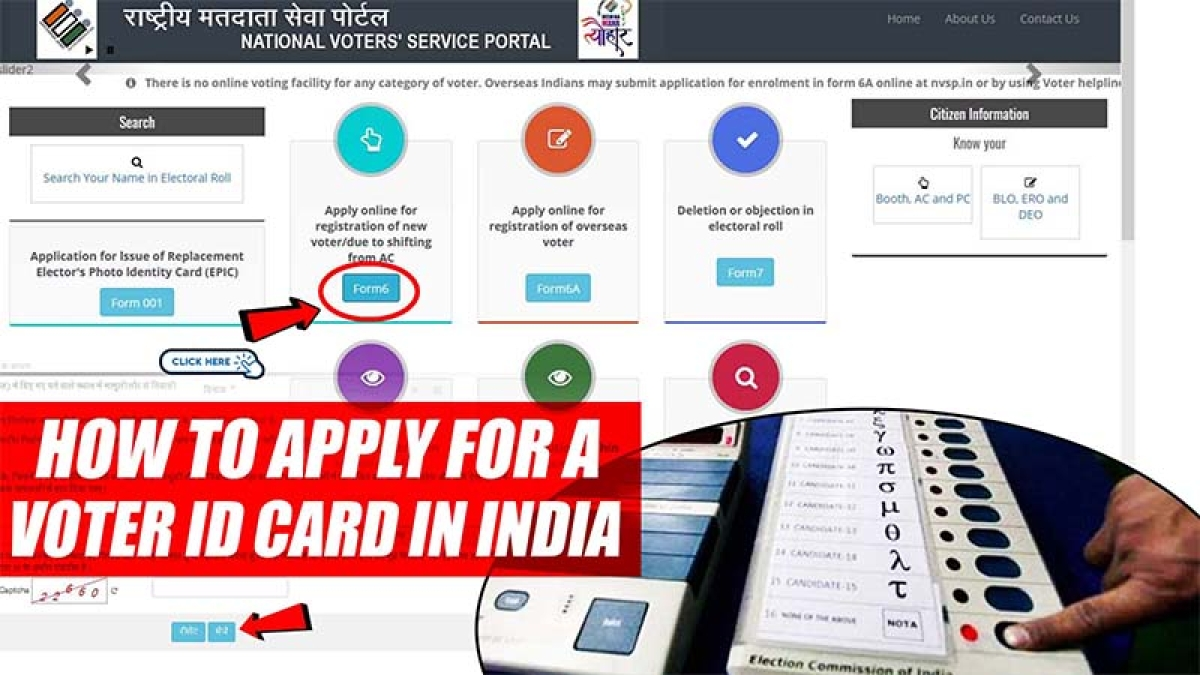 How to apply for a voter ID card in India