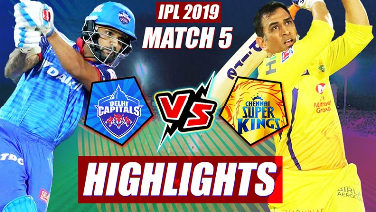 IPL 2019 Match 5 DC vs CSK Highlights