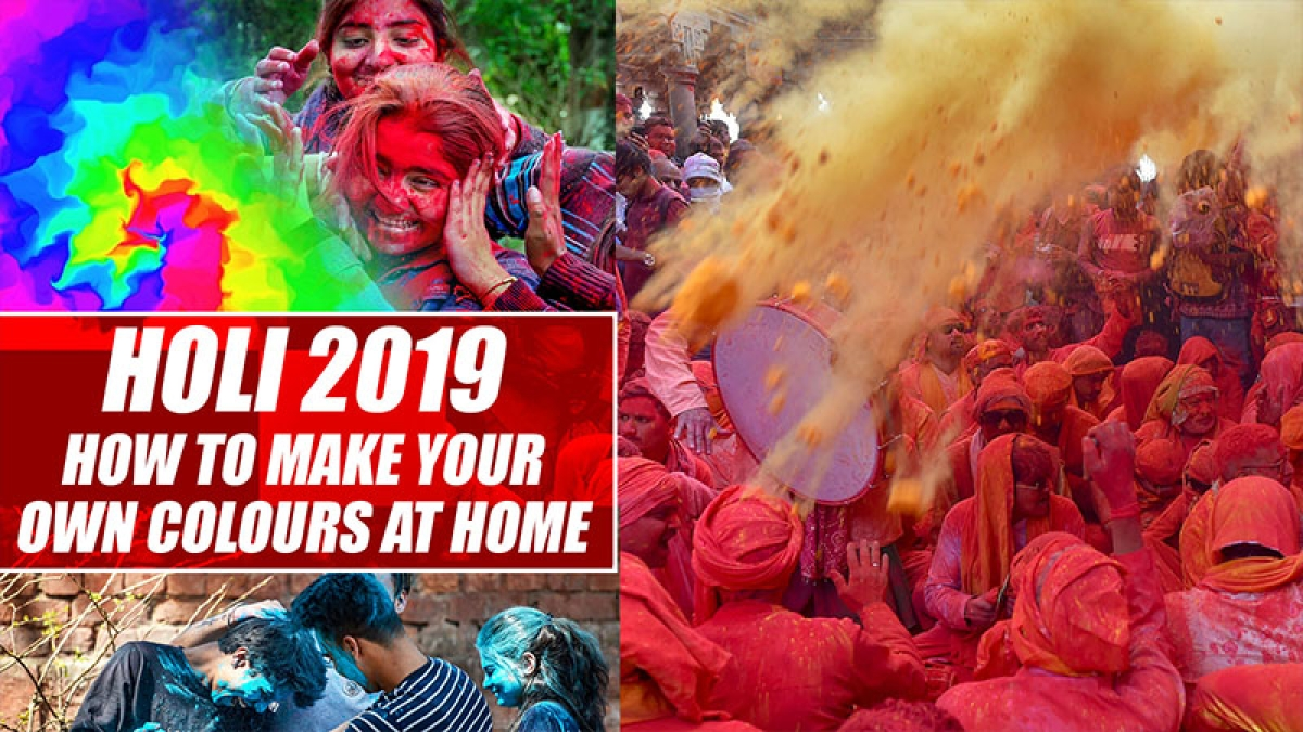 Holi 2019: Make your own colours at home using kitchen ingredients!