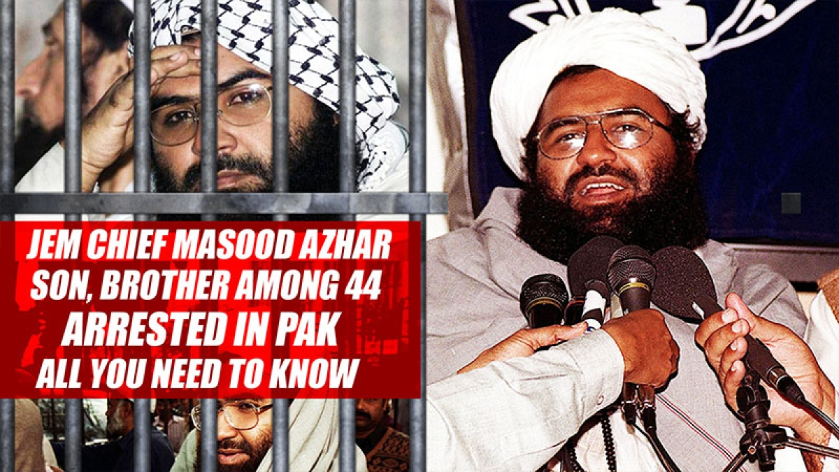 JeM chief Masood Azhar's son, brother among 44 arrested in Pak: All you need to know