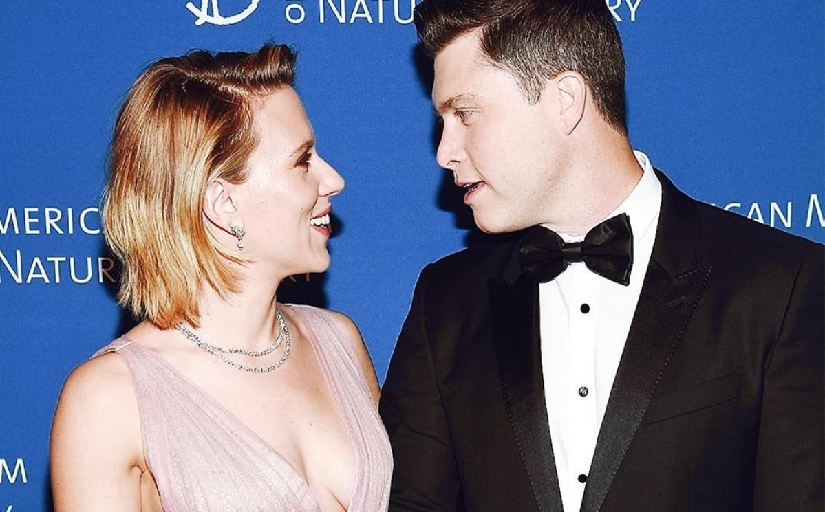 Colin Jost and Scarlett Johansson are 'in love'