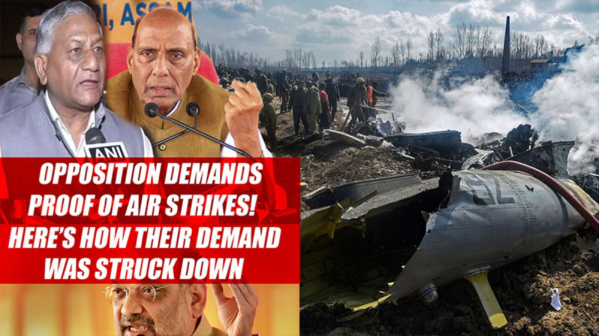 Opposition Demands Proof Of Air Strikes! Here's How Their Demand Was Struck Down