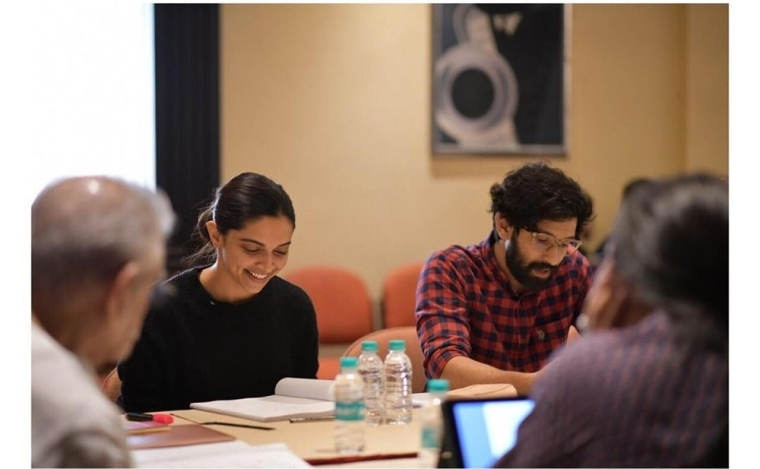 Deepika Padukone shares snap from first script reading session of 'Chhapaak' with Vikrant Massey