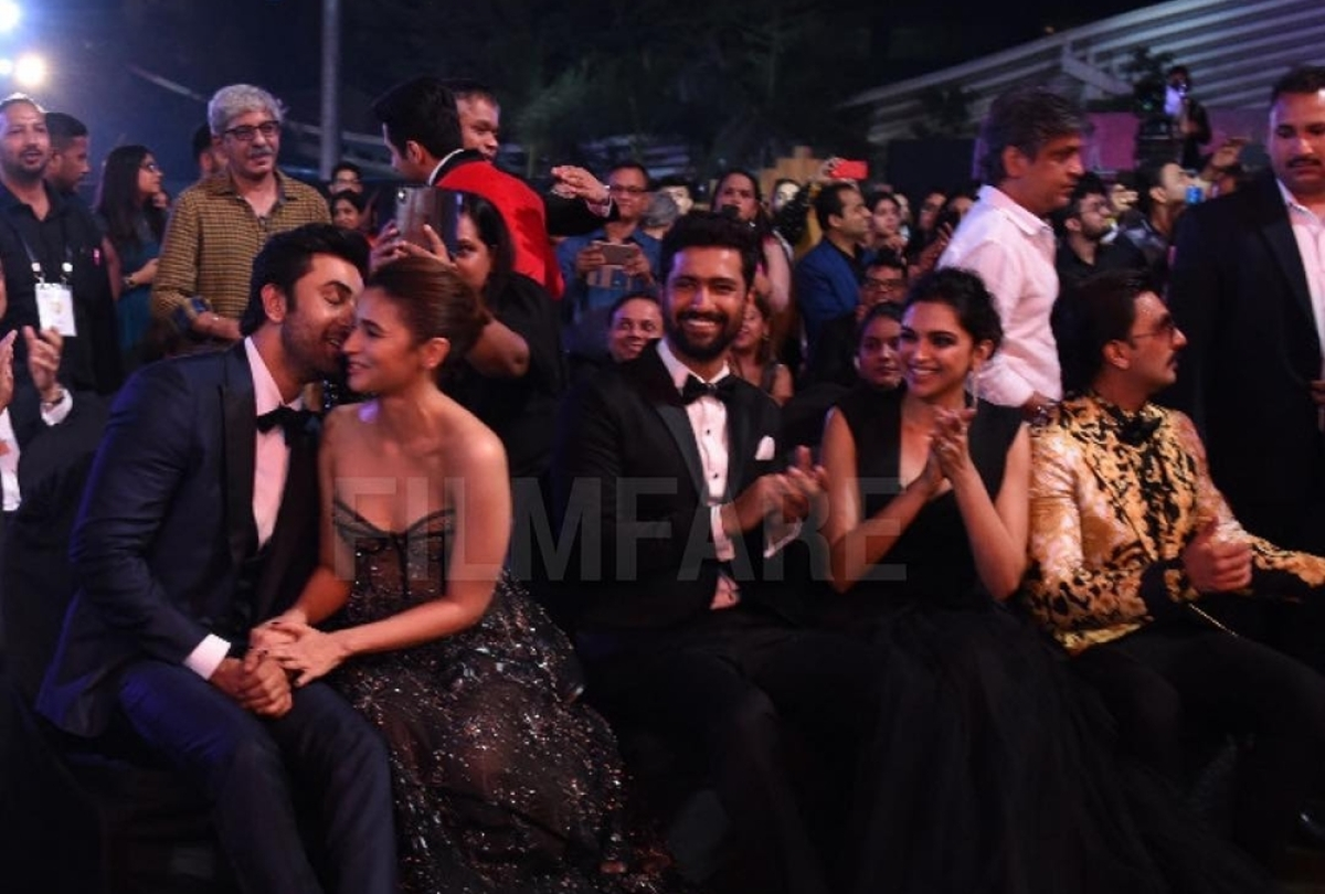 Ranbir Kapoor, Vicky Kaushal's smooch goes viral; here's how Alia Bhatt reacted