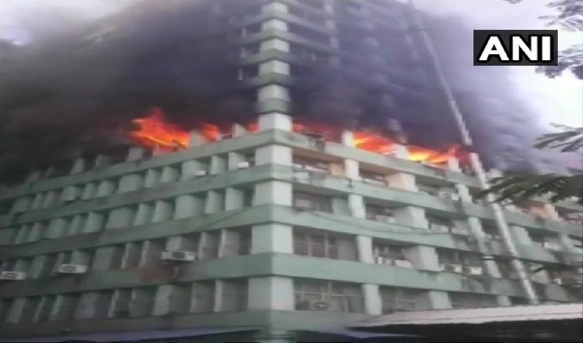 Delhi: Fire breaks out at the office of Ministry of Social Justice at CGO complex, 25 fire tenders rushed to spot
