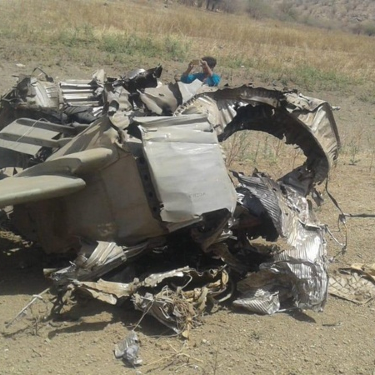 Pakistan Army's aircraft crashes in paddy field