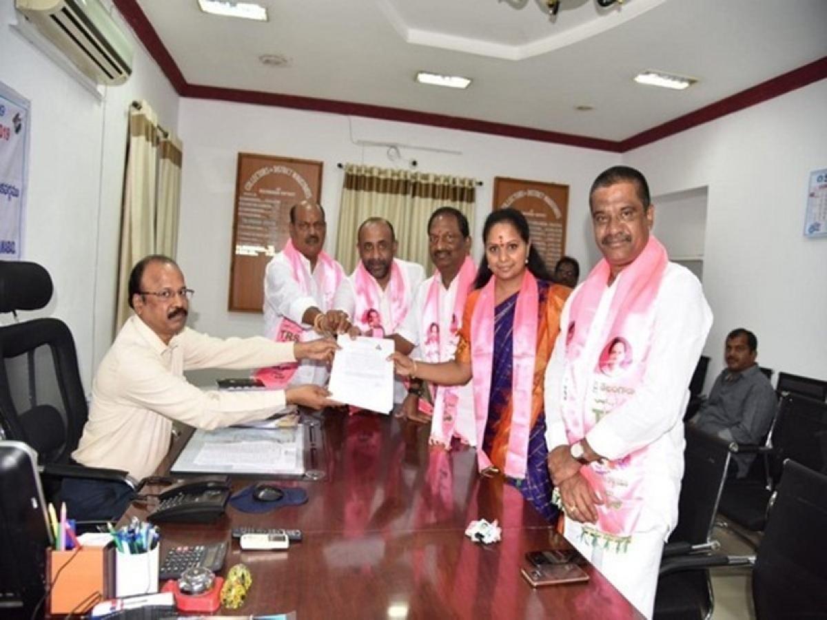 Lok Sabha elections 2019: KCR's daughter Kalvakuntla Kavitha files nomination from Nizamabad constituency