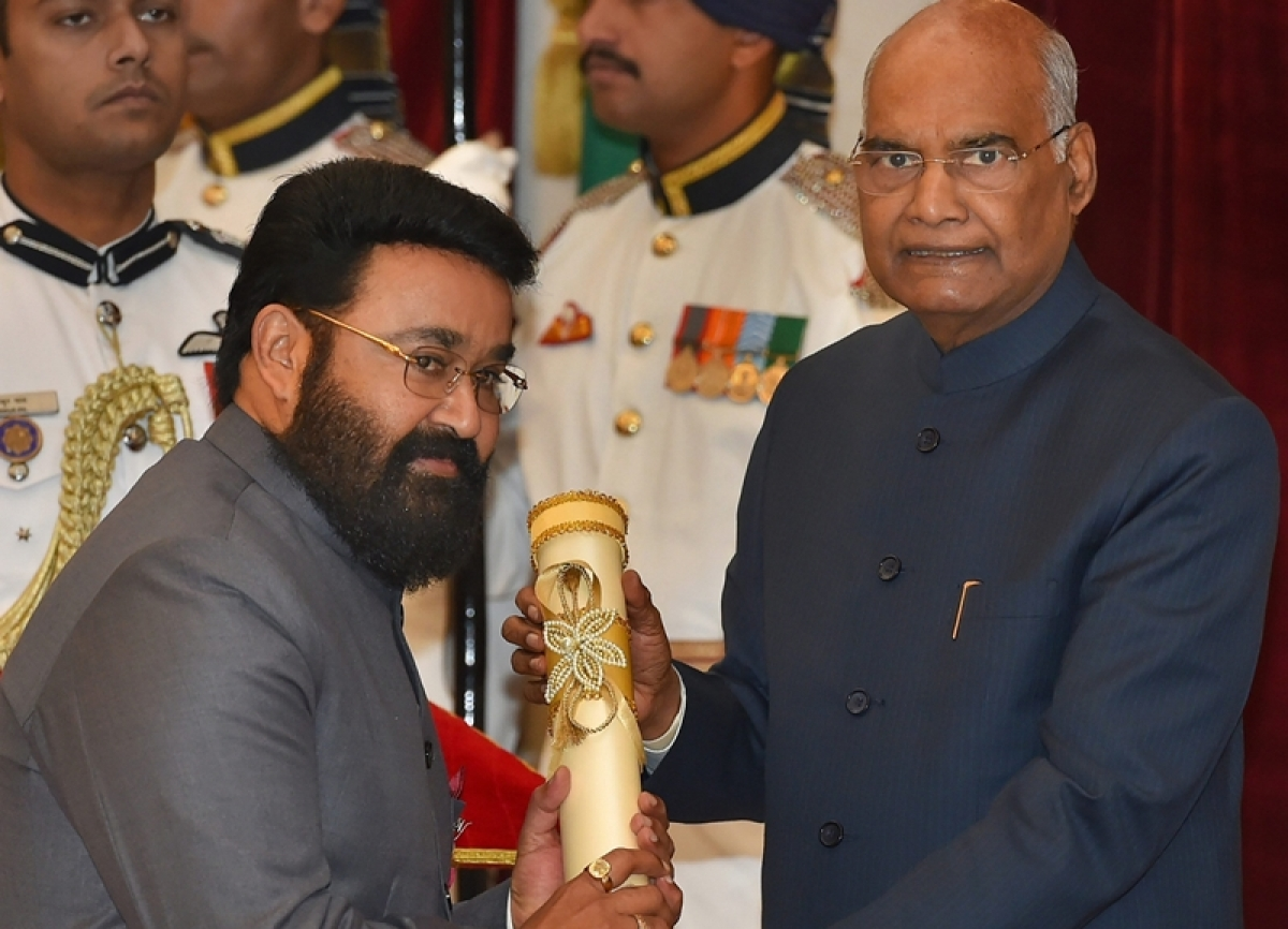 President Kovind confers Padma awards to Mohanlal, Shankar Mahadevan and other 'inspiring' personalities; see pics