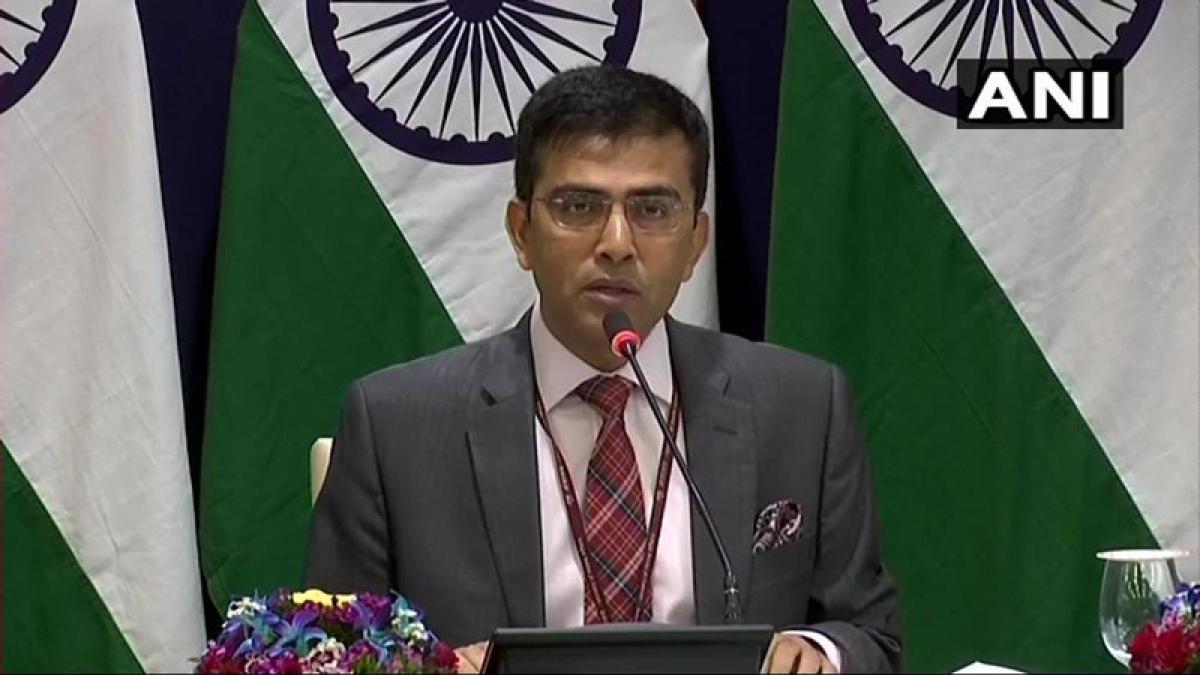 External Affairs Ministry spokesperson Raveesh Kumar