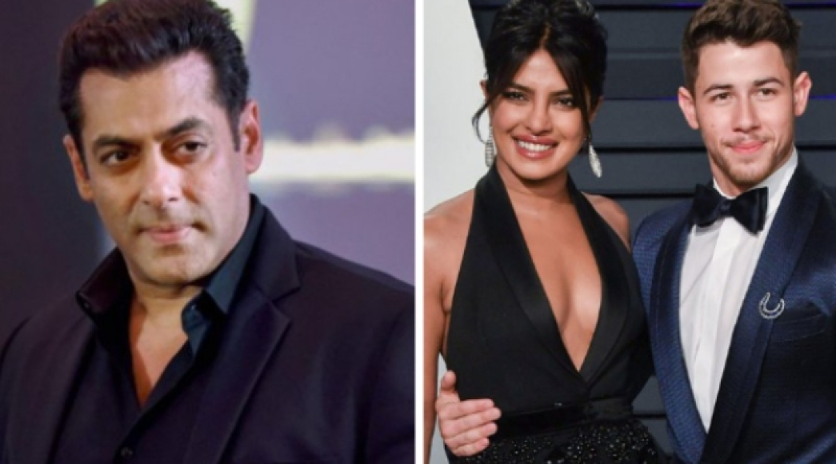 Salman Khan pokes fun at Priyanka for launching a dating app after getting married to american singer Nick
