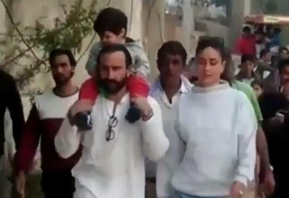 Saif Ali Khan and Kareena Kapoor give son Taimur a tour of Pataudi village; watch video