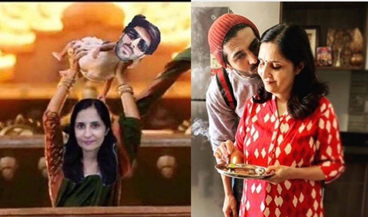 LOL! Kartik Aaryan wishes Women's Day to his Mom 'Baahubali' style