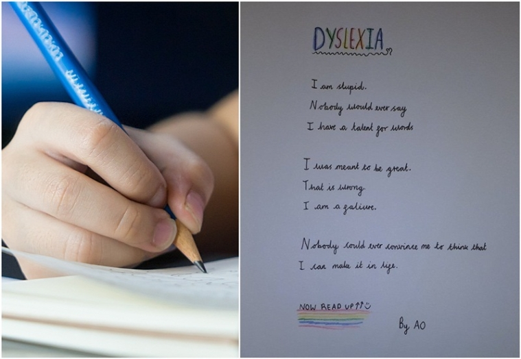 I can make in life! 10-year-old girl goes viral for writing inspirational 'reverse poem' about dyslexia