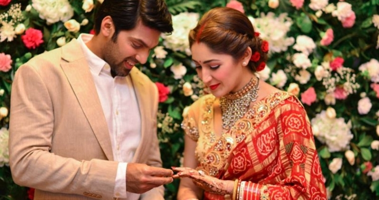 Check out Arya and Sayyeshaa's royal look for wedding reception in Chennai